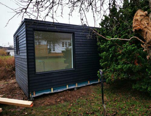 Nyt kontor i haven